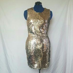 Ark & Co Dresses - NWT! Ark & Co Gold Sequin Dress